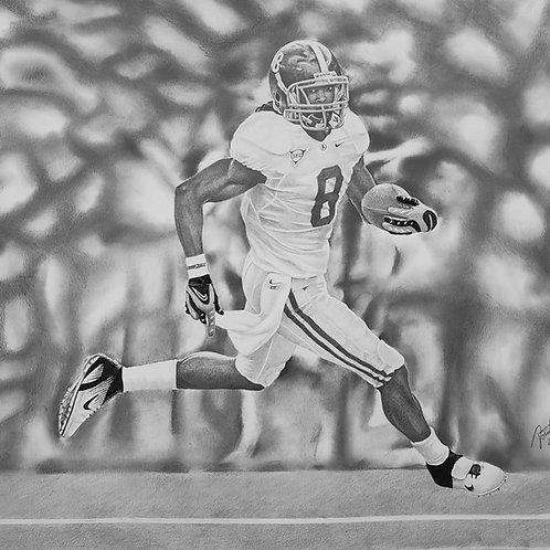 Julio Jones #8 limited edition 18x24