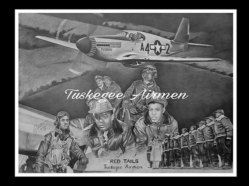 Red Tails 24x36 Artist Proof Remarqued prints