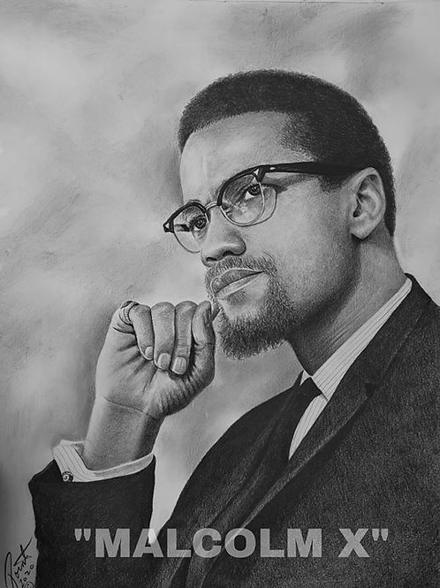 Malcolm X limited edition print 20x30