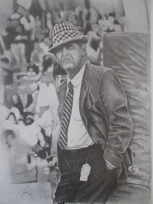Paul Bear Bryant 18x24 limited edition print