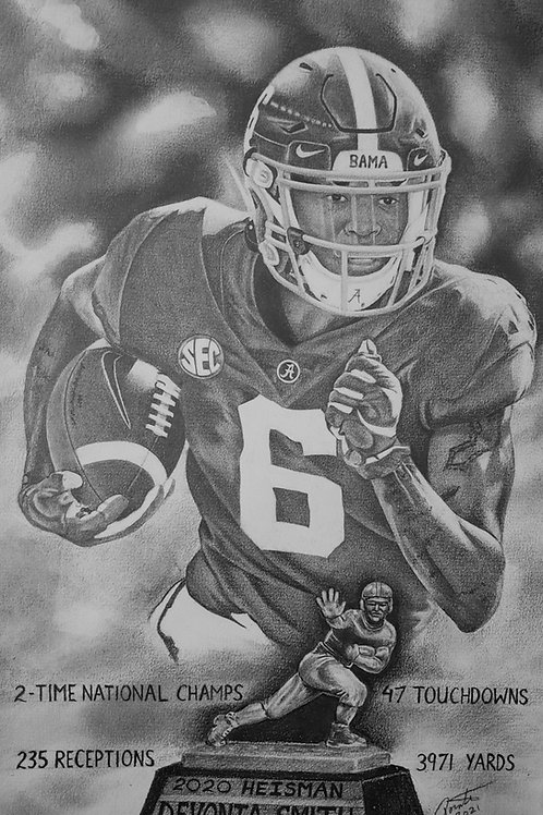 Devonta Smith Heisman 16x20 limited edition print