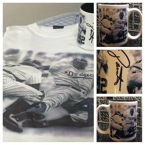 Jackie Robinson t-shirt & mug combo