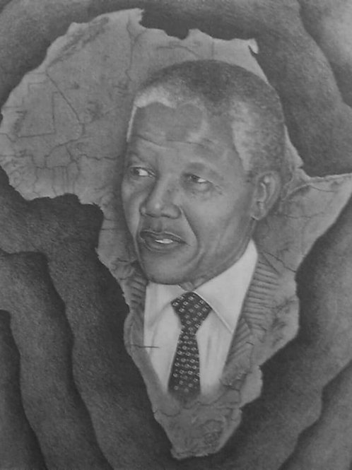 Nelson Mandela 18x24 limited edition print