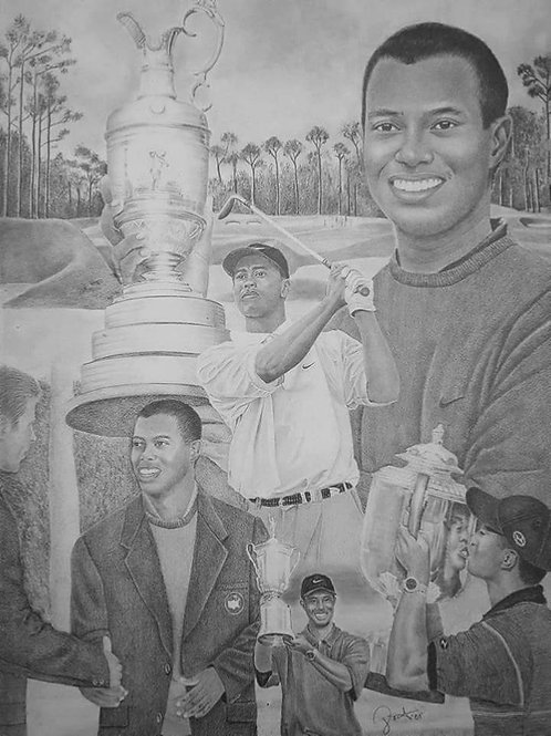Tiger Woods Grand Slams 22x28 limited Edition Prints