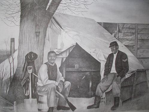 Black Civil War Soldiers 18x24 limited edition