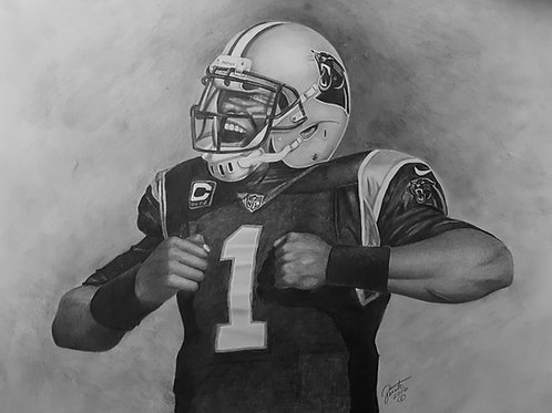 Cam Newton 20x30 limited edition lithograph