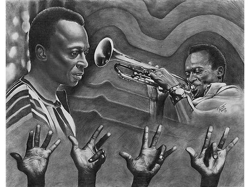 Miles Davis 20x30 limited edition prints