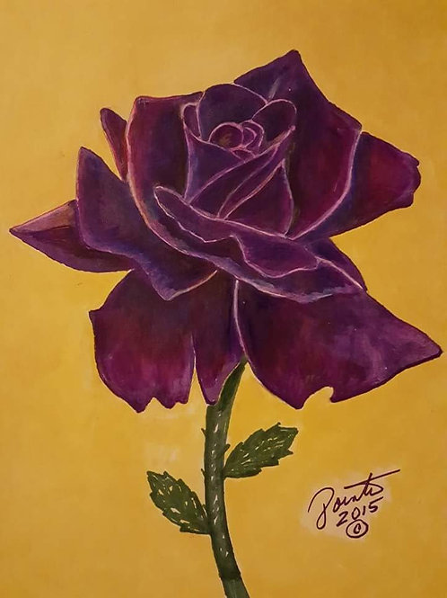 Purple Flower 18x24 limited edition