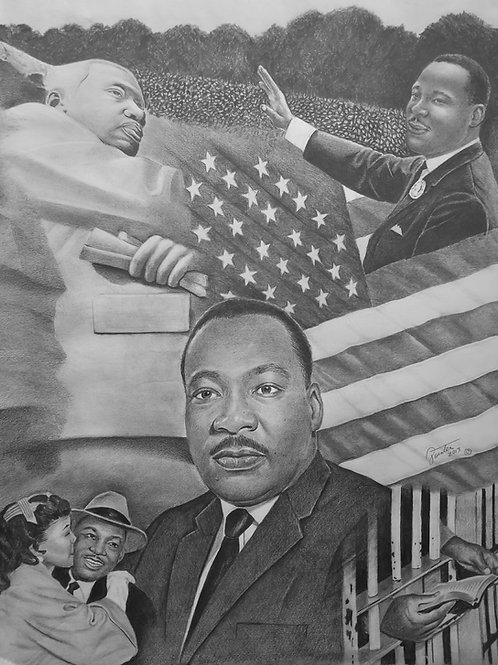 MLK, JR Collage 18x24 limited edition print