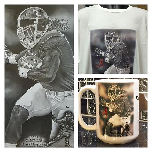 Derrick KING Henry Male 18×24 ltd etd print, t-shirt and 15oz mug