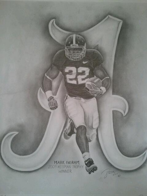 Mark Ingram 18x24 limited edition print