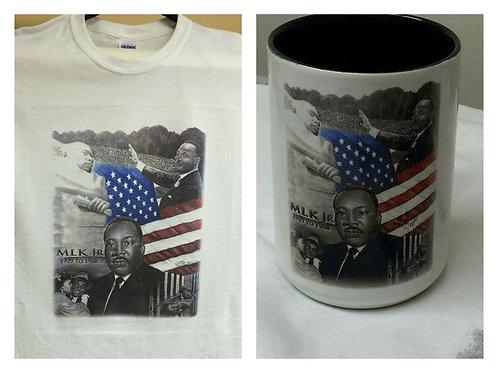MLK, JR  combo mug and t-shirt