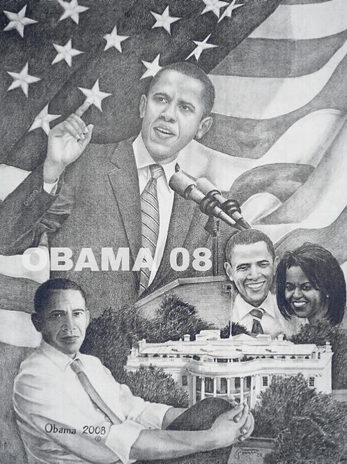 Obama 2008 size 16x20 limited edition print