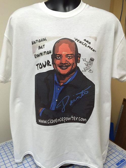 Male Pencilman National Art Exhibition Tour T-shirt