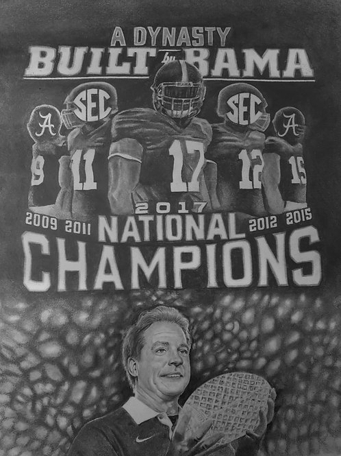 ROLL TIDE CHAMPS size 18x24 limited edition prints