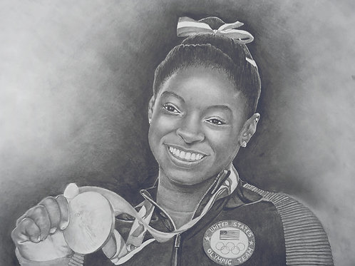Olympian Simone Biles 20x30 limited edition
