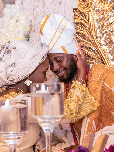 Togolese Bride and Groom
