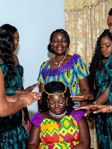 Ghanaian Wedding Bridal Party Prayer