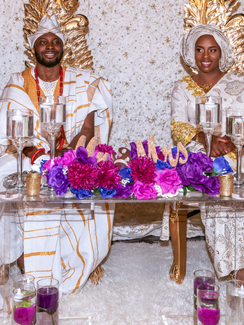 Nigerian Togolese Wedding Couple