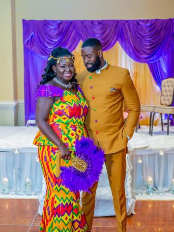 Dapper Ghanaian Groom can't take his eye