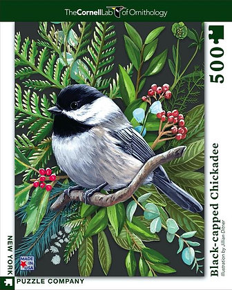 Black-capped Chickadee 500pc Jigsaw Puzzle
