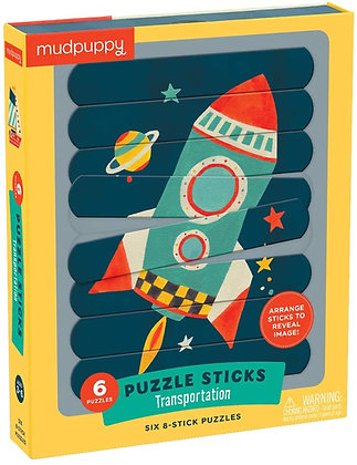 Transportation Puzzle Sticks