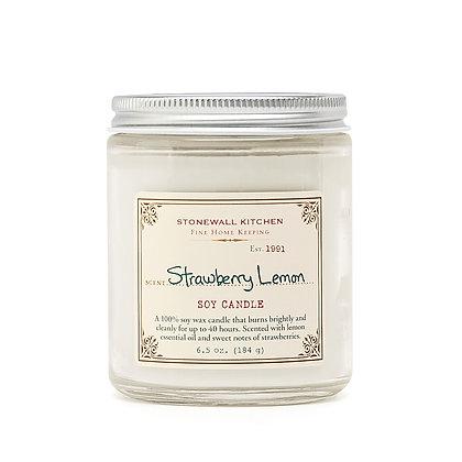 Strawberry Lemon Soy Candle