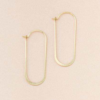 Cosmic Oval Earrings Gold Vermeil
