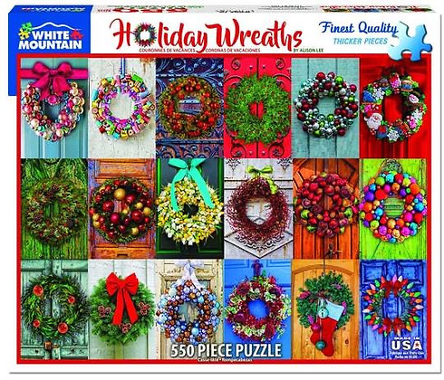 Holiday Wreaths 550pc Jigsaw Puzzle