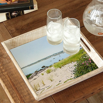 Portsmouth Beach Wooden Serving Tray