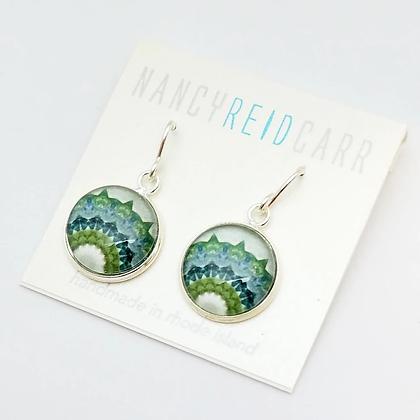 Mandala Fluorite Earrings