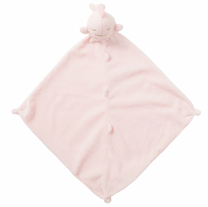Pink Whale Lovey Blankie