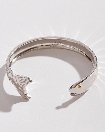 Sterling Silver Fish Cuff Bracelet