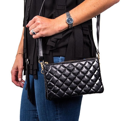 Quilted Black Carson Crossbody