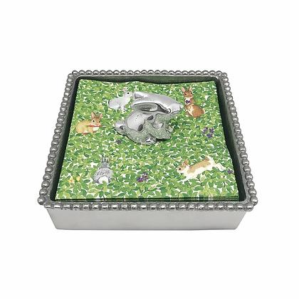 Bunny Beaded Napkin Box