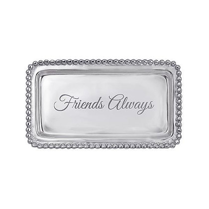 Friends Always Beaded Statement Tray