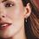 Thumbnail: Precious Heart White Topaz Hoop Drop Earrings