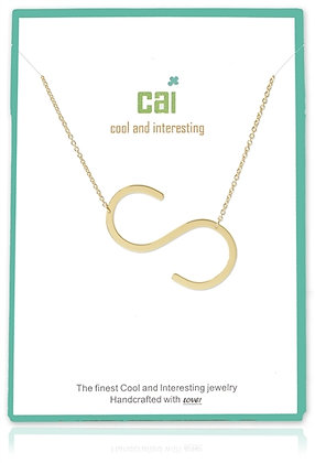 Medium Sideways Initial Necklace--S