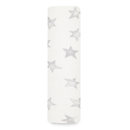 Snuggle Knit Swaddle Blanket Grey Stars from aden + anais