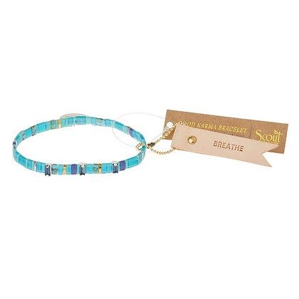 Good Karma Miyuki Bracelet | Breathe - Ocean/Sparkle/Silver