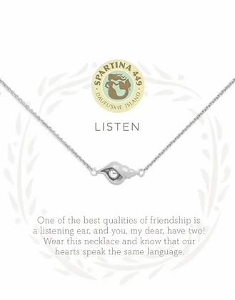 Sea La Vie Listen Necklace