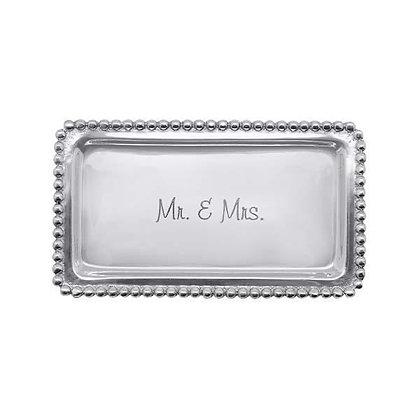 Mr. & Mrs. Beaded Statement Tray