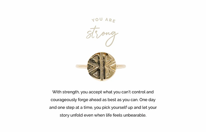 Strong Adjustable Ring Gold