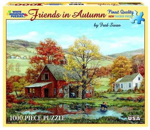 Friends in Autumn 1000pc Jigsaw Puzzle
