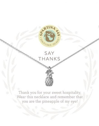 Sea La Vie Say Thanks Necklace