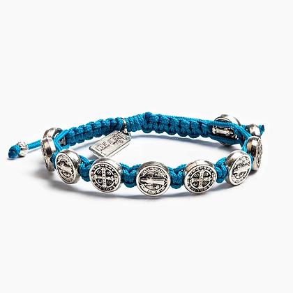 Benedictine Blessing Bracelet Blue/Silver