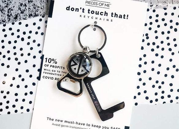 Don't Touch That! Keychain Graphite