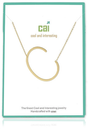 Medium Sideways Initial Necklace--C