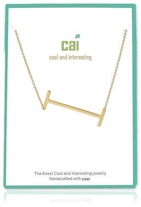 Medium Sideways Initial Necklace--I