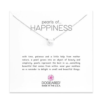 Pearls of Happiness Necklace, Sterling Silver